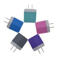 Для Samsung S8 Примечание 8 Dual USB зарядное устройство 5V 2.1A 1A металла Переносной адаптер США штекер 100шт AC адаптер питания