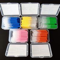 60 Stücke Zahnseide Push-Pull Interdentalbürsten 0,7mm Dünne Weiche Zahnpasta Interdentalreiniger Orthodontische Draht Mundpflege Werkzeug