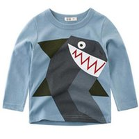 Çocuk giyim sonbahar çocuk uzun kollu T-shirt hayvan baskı boys için gömlek bebek giysileri sıcak satış ücretsiz kargo