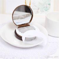 Schminkspiegel Mini Make-up Spiegel Mit Kamm Tragbare Hand Cartoon Tier Muster Tasche Weißblech Make-up Spiegel
