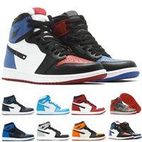 Ucuz 1 Yüksek OG NRG Altın Top 3 Metalik Donanma Otantik Kalite Gerçek Deri Orijinal Malzeme Man Basketbol Ayakkabı tasarımcısı moda Spor ayakkabılar