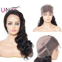 UNice Peruvian Body Wave Human Hair 360 Lace Front Wigs for ...