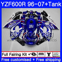 Corpo + serbatoio per YAMAHA YZF600R Blu bianco lucido Thundercat 02 03 04 05 06 07 229HM.27 YZF 600R YZF-600R 2002 2003 2004 2005 2006 2007 Carenatura