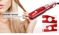 Professional steam hair straightener ceramic steam flat iron...