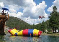 9M طول الهواء الحارس نفخ الترامبولين نفخ فقاعة الماء نفخ المياه المنجنيق القفز كيس الهواء للبيع