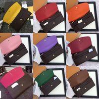 frei shpping Großhandel rot bottoms dame lange brieftasche multicolor designer geldbörse Kartenhalter original box frauen klassische reißverschlusstasche