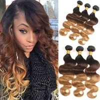 Ombre Brazilian Body Wave Human Hair Bundles Brazilian Remy ...