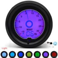2 بوصة 52 ملليمتر psi توربو تعزيز المقياس 7 اللون سباق المقياس lcd العرض الرقمي سيارة متر متعددة الألوان