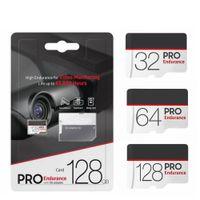 2018 핫 뉴 프로 프로 내구 화이트 64 / 128 / 256GB C10 TF 플래시 카드 10 무료 SD 어댑터 소매 물집 포장 Epacket DHL 무료 배송