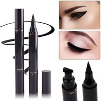 Maquillaje Winged Wing Eyeliner Stamp Black Thin Thick Eye L...