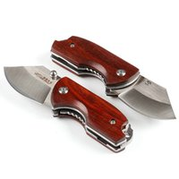 ZL101 Small Pocket Folding Knife Wood Handle D2 Blade 58HRC ...