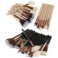 15PCS Set Makeup Brushes Kits Wood Handle Nylon Wool Powder ...