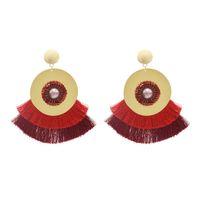 Declaração idealway Bohemian Handmade Brinco Pendente Tassel Threads Big Brincos para Mulheres nupcial da dama de honra da orelha de jóias