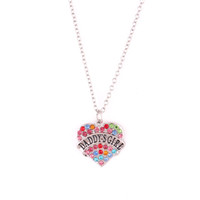 Heart Necklace For Women DADDY' S GIRL Written With Colo...