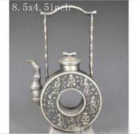 Commercio all'ingrosso - China039; s vecchia teiera d'argento fortunata squisita della mano miao - gli otto immortali