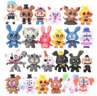 24Pcs / set 5-7cm FNAF Five Nights At Freddy's Sister Location Funtime Foxy Ballora Puppet Nightmare Freddy ПВХ фигурка игрушка dhl