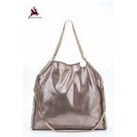 22018 NEU Exklusive Shaggy Deer Luxus PVC 3 Kette Falabellas Handtasche  Fold-Over Klassische PVC dc8a5d5a8db35