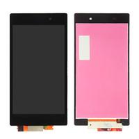 """Sony Xperia Z1 için LCD L39H Ekran Dokunmatik Ekran Digitizer Meclisi + Çerçeve C6902 C6906 C6903 Değiştirme Için 5.0 """"SONY Z1 LCD"""