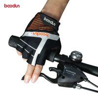 Boodun половина палец Велоспорт перчатки мужские женские летние спортивные велосипед перчатки лайкра нескользящей горный велосипед перчатки Guantes де portero