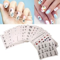 50pcs Mixed Flores Nail Stickers, Sticker Prego Decalques, Nail Tips Decoração 108pcs / sheet Top Quality Metallic Mix Design