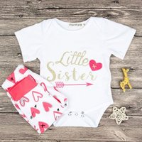 2018 Summer Baby Clothing Sets Little Sister Short Sleeve Ro...
