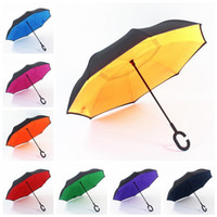 Windproof Reverse Folding DouBle Layer Inverted Umbrella Sun...