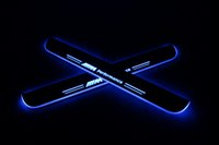 방수 아크릴 이동 LED 환영 페달 자동차 스캔 플레이트 페달 문 Sill Pathway Light BMW F30 F35 2013 2014 2015