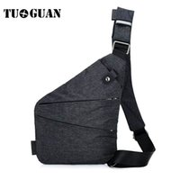 TUGUAN Casual Anti Theft Chest Bag Uomo nascosto Messenger Bag Shoulder Crossbody Borse Canvas Sling Pack Maschio Travel Pocket telefono