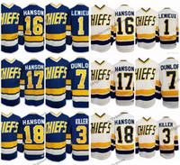 Film Hanson Brothers Chief Charlestown 17 Steve Hanson 18 Jeff Hanson 16 Jack 1 Denis Lemieux 3 Dave Killer 7 Reggie Dunlo Hockey Jersey