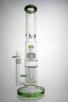 Nido de abeja Bong Bong Dab Rig 2 capa de agua de tubería recta de tubo pelele pipas de fumar Dabber Embriagador plataformas petrolíferas 18mm Tazón
