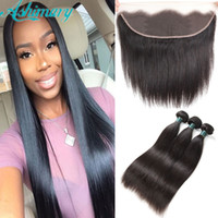 Brazilian Straight Virgin Hair 3 Bundles with Lace Frontal 8...