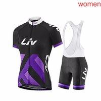 Liv Pro Equipe Ciclismo Jersey Bib Calças Curtas Gel Pad Set Ropa de Ciclismo Maillot Bike Wear Ciclismo Set S21032612