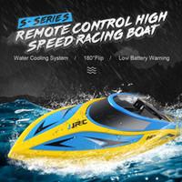 JJR / C JJR / C S2 Shark 2,4 ГГц 2CH 25 КМ / ч Портативный мини-RC Лодка Пульт дистанционного управления Быстроходный катер