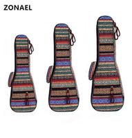 ZONAEL 21 23 26 pollici in cotone imbottito Folk portatile basso chitarra Gig bag Custodia Ukulele copertura della chitarra zaino con doppia cinghia