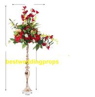 Yeni stil Düğün Çiçek standı demir Yol kılavuzu çiçek topu dekorasyon için Masa merkezi Altın demir bel Çiçekler için düzenleme best0341