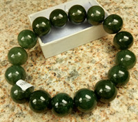 Certified Oily Green Grade A Jade Jadeite 12mm Bead Bangle S...