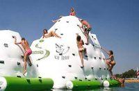 물 빙산 팽창 식 장난감 물 공원 여름에 물 게임 사용, 물 바위 등반 슈퍼 큰 장난감