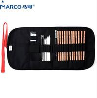MARCO 7500 уголь Earser нож для рисования карандаши набор цветов искусство рисования карандаши для письма рисунок и эскиз холст сумка набор