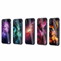 Neue bunte gehärtetes Glas Handy Shell Handytaschen Starry gemalt Starry Sky Case Handy Casesfor iPhone 6 7 Plus Galaxy S8
