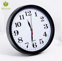Mrosaa 23x23cm Европейский старинные настенные часы пластиковые гостиная декоративные кварцевые часы Horloge таймер настенные часы высокого качества
