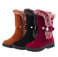 Stivali da neve Botas femininas Caviglia per le donne Fashion Lady Boots Inverno Zapatos Mujer Scarpe da donna inverno breve peluche stivali