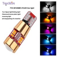 10pcs T10 3014smd 27led License plate Car indicator Lamp wid...