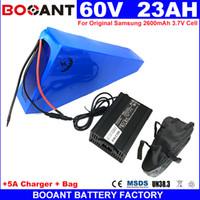 Für Bafang BBSHD 1500 Watt 2000 Watt Motordreieck E-bike Lithium Batterie pack 60 V 24AH Elektrische fahrrad Batterie + 5A Ladegerät Freies Verschiffen
