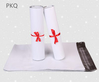100 stücke 25 * 35 cm Waren Verpackung Taschen Weiß Kurier Porto Poly Mailing Verpackung Taschen Selbstklebende Post Express Mail Beutel