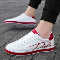 Men's White Leather Casual Shoes Sneakers Brogue Style Fashion Flats  Spring Autumn Male Shoes Loafers Men