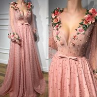 Gorgeous A Line Prom Evening Dresses Long Sleeves Hand Made ...