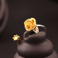 925 Sterling silver adjustable ring Flower girl The rose rin...