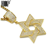 Hip Hop Micro Pave Full Rhinestone Stainless Steel Iced Out ...