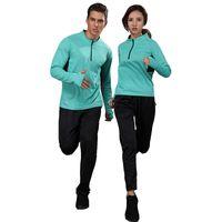 Hommes Sport Costumes Sportswear Ensemble femmes Gym Vêtements Tissu Fitness  Training Survêtement Zip Design Running Sets ba68eba9cbc