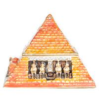 Египетская Пирамида Брелок Коробка Египет Туристический Сувенир Подарки Ювелирные Изделия Контейнер